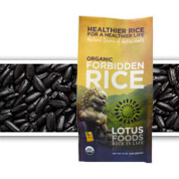 Lotus Foods | Organic Forbidden Rice® | Now grown organically , our most popular rice is fabled to enrich health and ensure longevity. This medium-size heirloom rice is treasured for its delicious roasted nutty taste, soft texture and beautiful deep purple