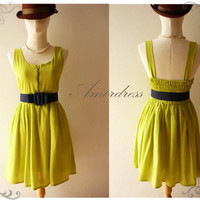 Amor Vintage Inspired All About Green Party Dress by Amordress