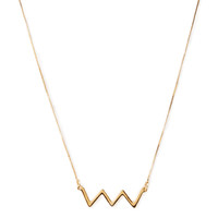 Zigzag Pendant Necklace
