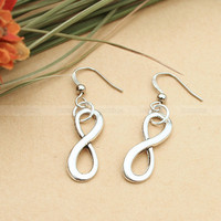 Silver infinity earrings  karma enternity earrings gift by mosnos