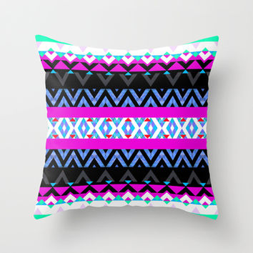 Mix #336 Throw Pillow by Ornaart