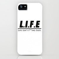 L.I.F.E iPhone & iPod Case by Michaela Ramstedt