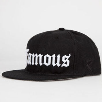 Famous Stars & Straps Representin Mens Snapback Hat Black One Size For Men 23925310001