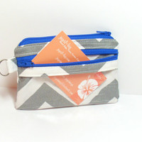 Id Coin Purse - Small Id Purse - School Id Purse - Id Change Purse - Chevron Coin Purse - Id Holder - Id Pocket - Business Card Holder - Bag