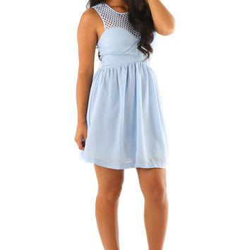 The Solenice Dress: Powder Blue