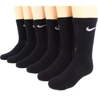 Nike Kids Banded Cotton Crew 6-Pair Pack Black/(White) - Zappos.com Free Shipping BOTH Ways