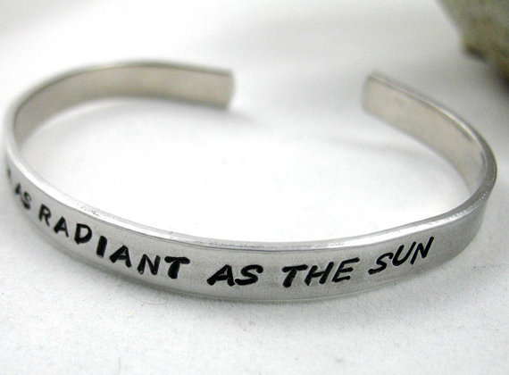 Radiant As the Sun Hunger Games Inspired Bracelet by oneeyedfox