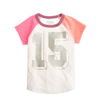 GIRLS' NEON 15 BASEBALL TEE