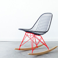EAMES RKR - FLAT BLACK + MARFA RED