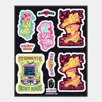 Monster and Object Head Stickers
