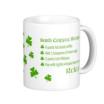 Irish Coffee Recipe Shamrock Mug