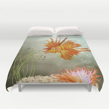Ocean Deep Duvet Cover by Texnotropio