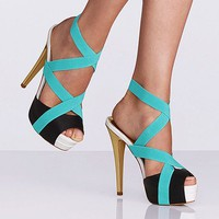 Color-block Elastic Sandal - Colin Stuart - Victoria&#x27;s Secret