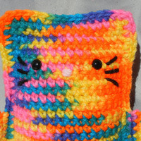 Amigurumi Kitty Crochet Cat Bright Rainbow Kawaii by CroweShea