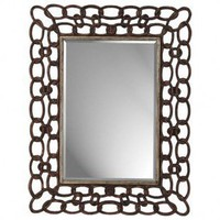 Paragon Mottled Copper Links Rectangle Mirror - 8662 - Decor