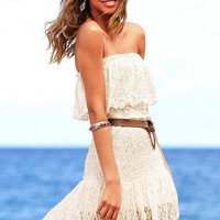 Strapless Lace Dress - Victoria's Secret