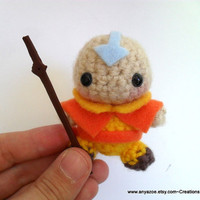 Aang The Last Airbender Amigurumi by AnyaZoe on Etsy