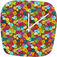 DENY Designs Home Accessories | Sharon Turner Graffiti Buttons Modern Clock