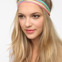 Striped Metallic Headwrap - Set of 6