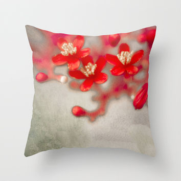 3 Words (vintage) Throw Pillow by Armine Nersisian