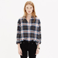 Collarless Popover in Wheaton Plaid