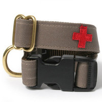 Red Cross Dog Collar