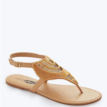 Sequin Sunburst Sandal