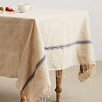 Lost & Found Striped Jute Tablecloth