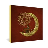 Eric Fan Moon Travel Gallery Wrapped Canvas