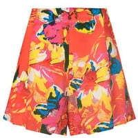 TROPICAL FLIPPY SILK SHORTS BY BOUTIQUE