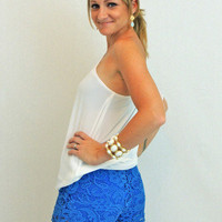 Love You Madly Shorts in Blue - $30.00 | Daily Chic Bottoms | International Shipping