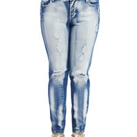 Dollhouse Destroyed Bleached Jeans | Wet Seal +