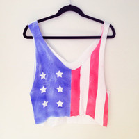 American Flag Crop Top by MFjewels on Etsy