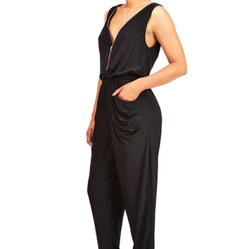 Eccentric Zipped Jumpsuit | Trendy Clothes at Pink Ice
