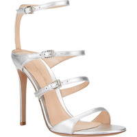 Metallic Triple-Strap Sandals