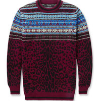 Sibling - Leopard Fair Isle Wool Sweater | MR PORTER