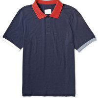 Band of Outsiders - Contrast-Trim Cotton-Piqué Polo Shirt | MR PORTER