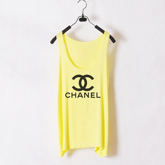 Classic Chanel  Women Tank Top  Yellow  Sides by zzzAfternoon