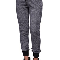 LA Hearts Drawstring Jogger Pants - Womens Pants - Gray Speckle -