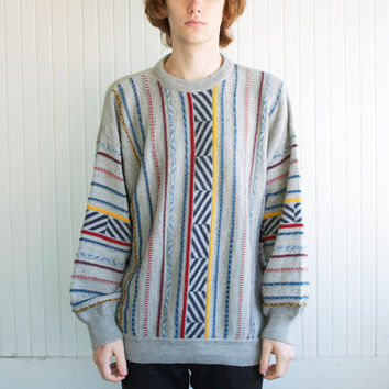 80's Italian Alternating Stripe Sweater