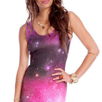 Solara Tank Dress in Purple :: tobi