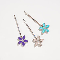 Floral Hair Pins, Set of 3 | Jewelry and Accessories | World Market
