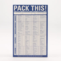 Travel Checklist Notepad | Home Office Accessories| Accessories | World Market