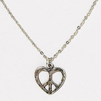 Peace Heart Necklace | Jewelry and Accessories | World Market