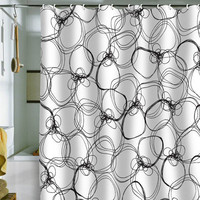 DENY Designs Home Accessories | Rachael Taylor Circles White Black Shower Curtain