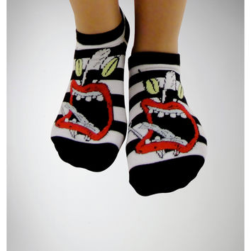 Real Monsters No Show Socks 5 Pack