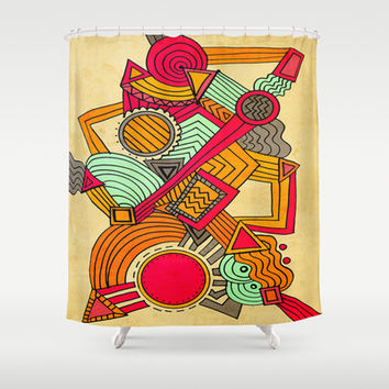 Semi Erratic Shower Curtain by DuckyB (Brandi)