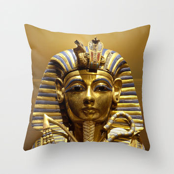 Egypt King Tut Throw Pillow by Erika Kaisersot