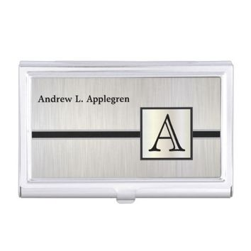 Executive Masculine Monogram Card Holder