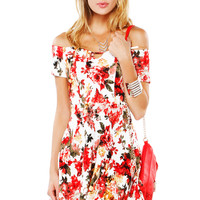 Papaya Clothing Online :: SWEETHEART FLORAL FLARE DRESS